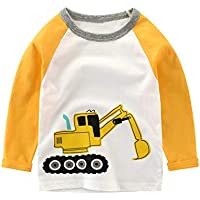 Warmbaby Little Boys Kids Long Sleeve T-Shirts