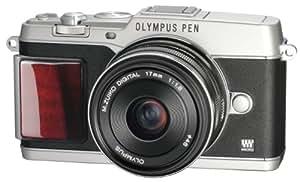 OLYMPUS ミラーレス一眼 PEN E-P5 17mm F1.8 レンズキット(ビューファインダー VF-4セット) シルバー プレミアムモデル E-P5 17mm F1.8 LKIT SLVPR