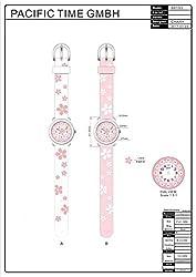 [チックタック] TICKTOCK キッズ腕時計 クオーツ アナログ表示 子供 ガールズ 桜 ウォッチ