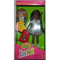 NRFB MattelバービーPolly Pocket AA Janet 3 Polly Pocket Dolls ,バックパック学校