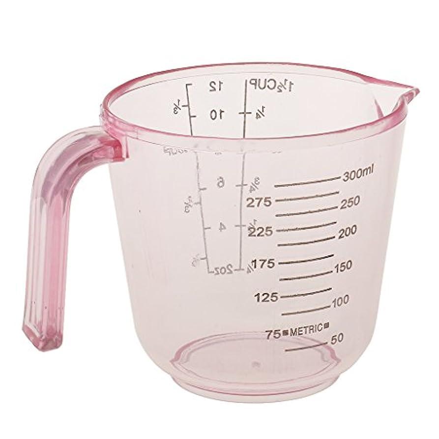 食物単語札入れSM SunniMix 計量カップ 髪染めカップ プラスチック製 多目的 おしゃれ染め 用品 全3カラー - ピンク