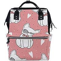 ママバッグ マザーズバッグ リュックサック ハンドバッグ 旅行用 可愛い犬柄 ファション