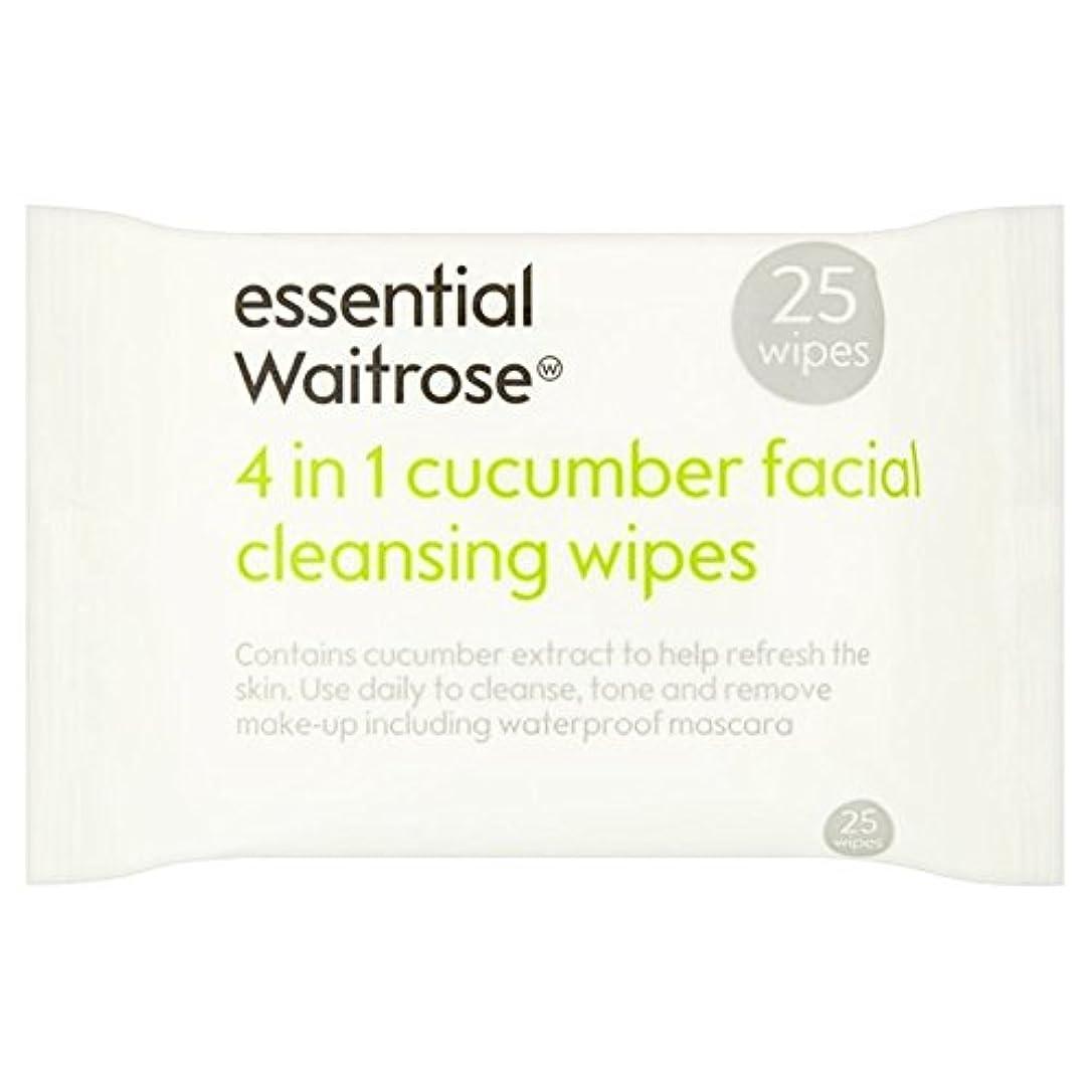 遅らせるメリー買い物に行くCucumber Facial Wipes essential Waitrose 25 per pack - キュウリ顔のワイプパックあたり不可欠ウェイトローズ25 [並行輸入品]