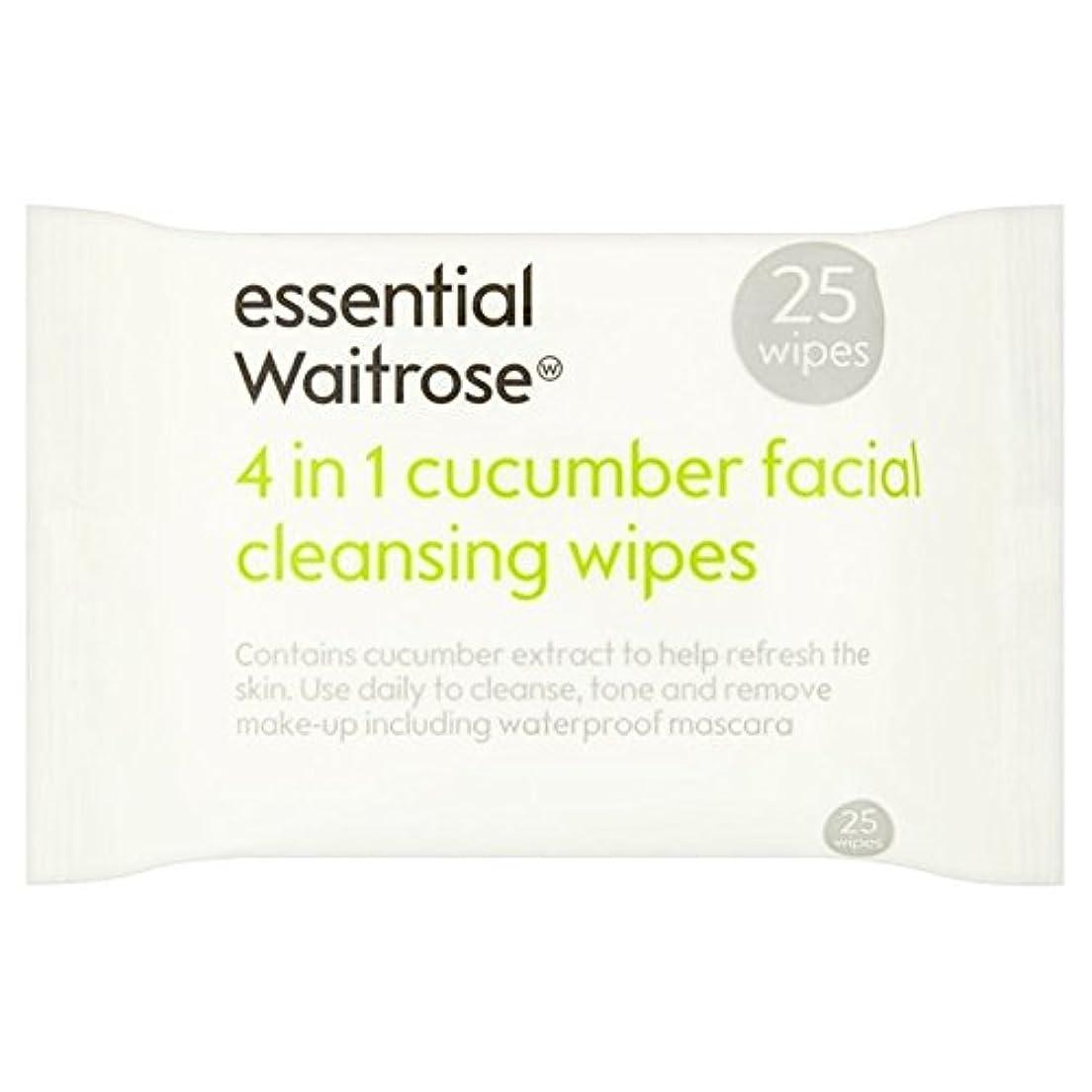 ミケランジェロさびた非常に怒っていますキュウリ顔のワイプパックあたり不可欠ウェイトローズ25 x2 - Cucumber Facial Wipes essential Waitrose 25 per pack (Pack of 2) [並行輸入品]