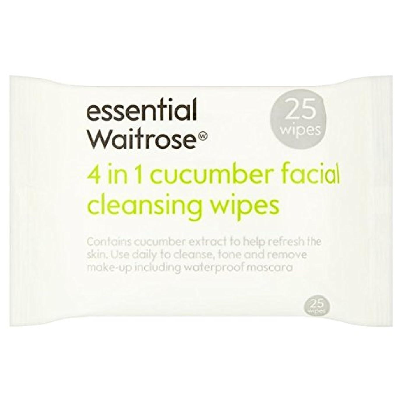 ホスト波紋不要Cucumber Facial Wipes essential Waitrose 25 per pack (Pack of 6) - キュウリ顔のワイプパックあたり不可欠ウェイトローズ25 x6 [並行輸入品]