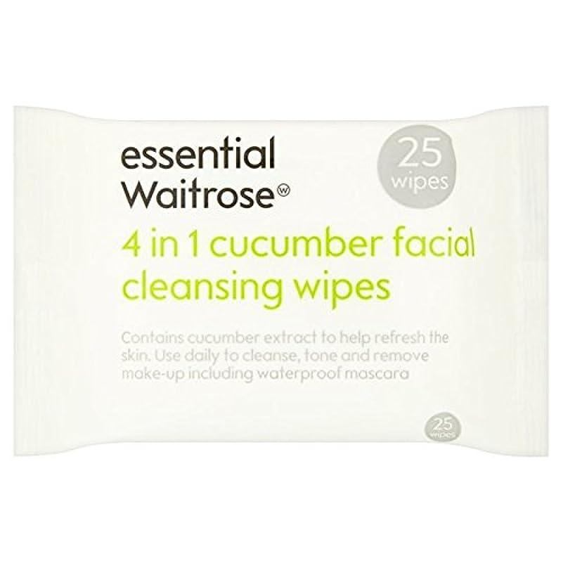 文献アンソロジー放棄されたCucumber Facial Wipes essential Waitrose 25 per pack - キュウリ顔のワイプパックあたり不可欠ウェイトローズ25 [並行輸入品]