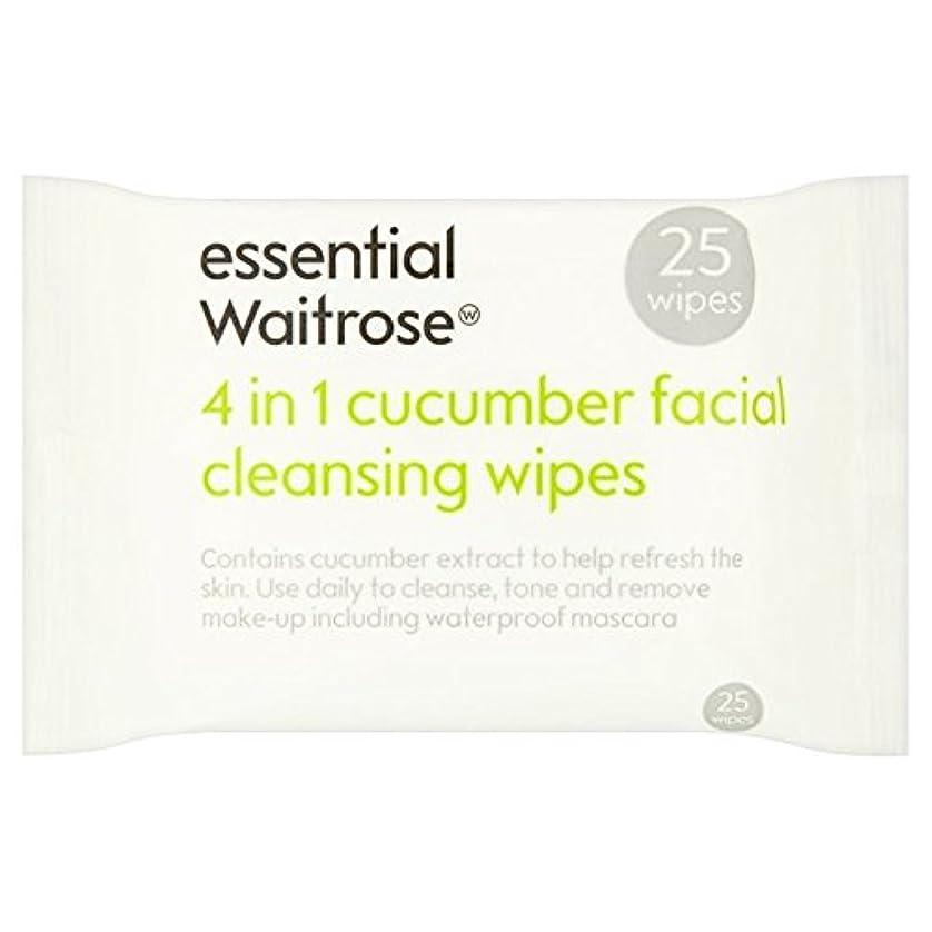 建築たまに発送Cucumber Facial Wipes essential Waitrose 25 per pack (Pack of 6) - キュウリ顔のワイプパックあたり不可欠ウェイトローズ25 x6 [並行輸入品]