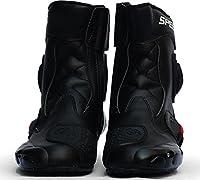 バイクシューズ ライディングシューズ レーシングブーツ バイク用 ショートブーツ ライダーブーツ (ブラック, 42(26cm))