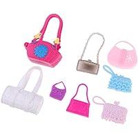 KESOTO 全5色 ハンドバッグ 人形バッグ 手袋 カバン 30cm バービードール人形のため 8点パック - #2