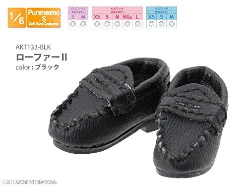 ピュアニーモ用ウェア ローファーII ブラック (ドール用)
