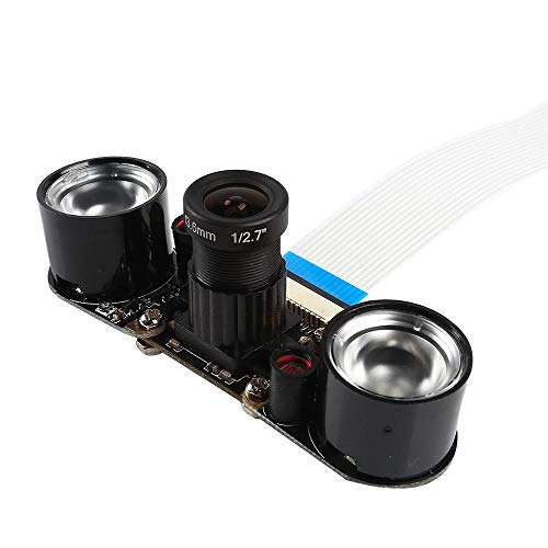 サインスマート Raspberry Pi用 赤外線カメラレンズ 2つ赤外線ライト付き 暗視用 5MP...
