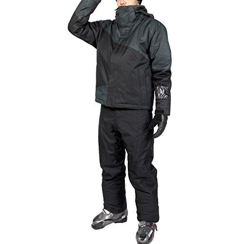 VAXPOT(バックスポット) スキーウェア 上下セット メンズ 【耐水圧5000mm 透湿3000g 撥水加工】 VA-2016 SW-CHR/BLK L(男性用L)