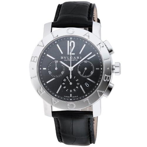 [ブルガリ]BVLGARI 腕時計 ブルガリブルガリ ブラック文字盤  アリゲーター革ベルト 自動巻 クロノグラフ BB42BSLDCH メンズ 【並行輸入品】