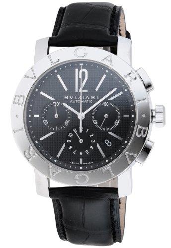 [ブルガリ]BVLGARI 腕時計 ブルガリブルガリ ブラック文字盤 アリゲーター革ベルト 自動巻 ...
