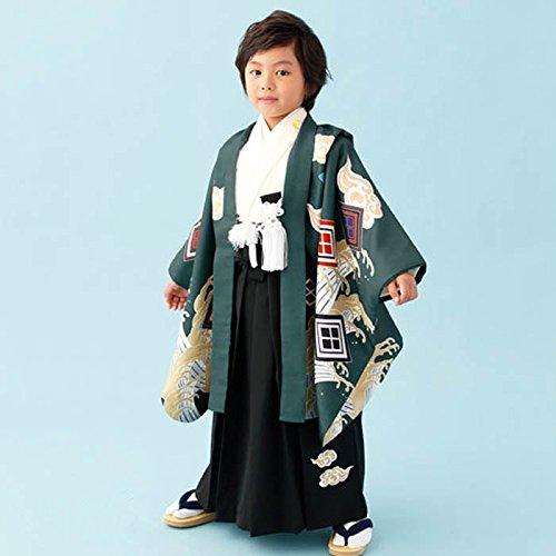 羽織袴セット 小町kids 七五三 五歳 男児 コマチキッズ 緑龍