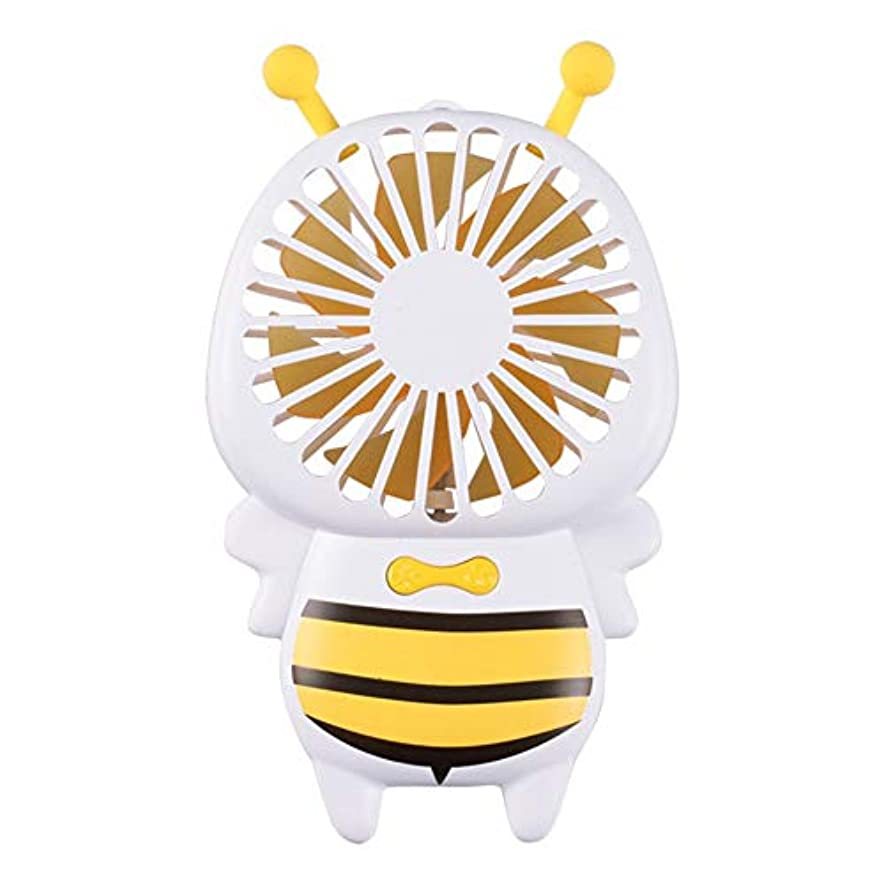 無力抗議推進力ファン小型の蜂のファン携帯用ハンドヘルド超薄型夜の光ファンミニusb小型ファン (Color : Yellow)