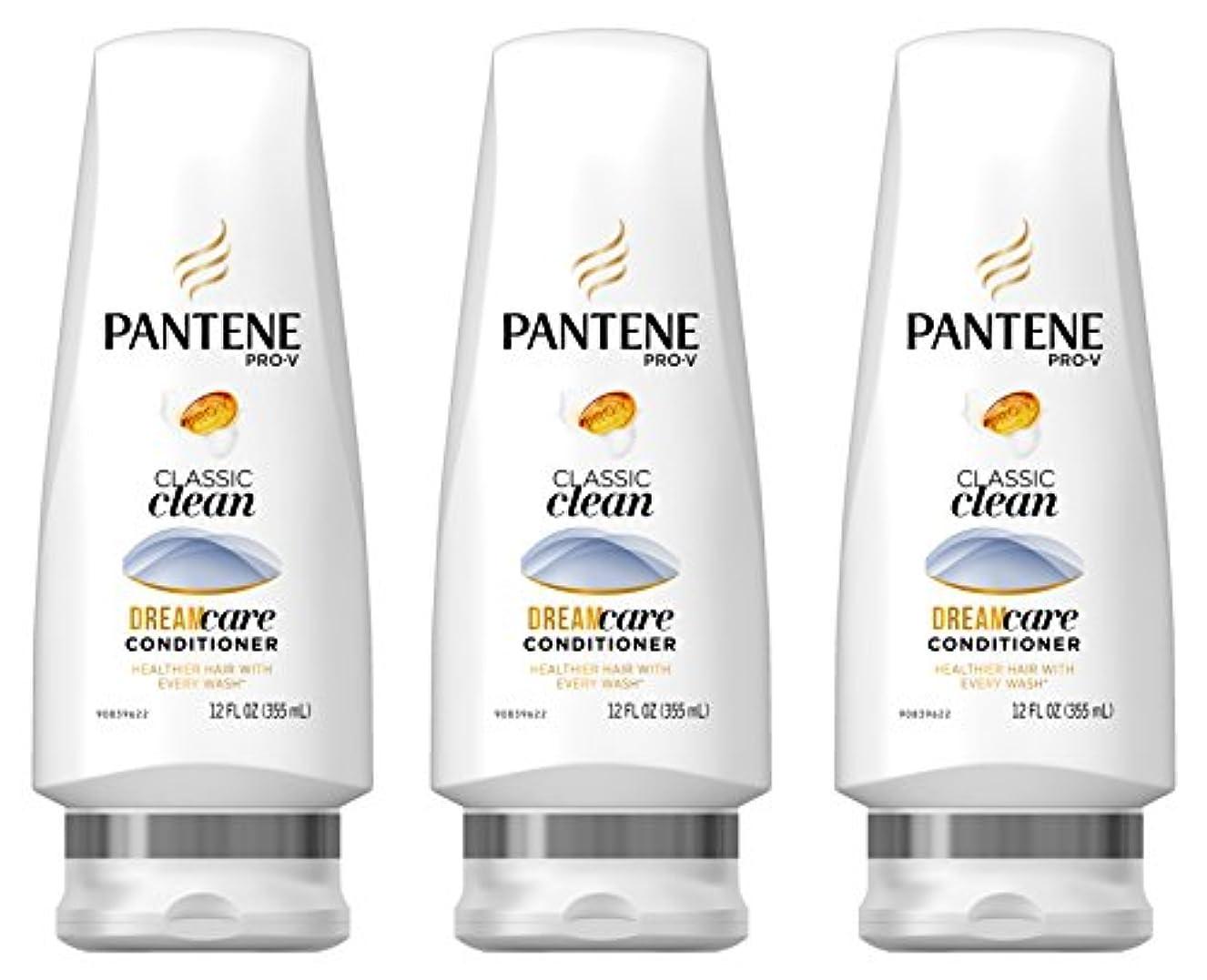 暖かさ感心するボトルPantene プロVクラシッククリーンコンディショナー12液量オンス(商品サイズは変更になる場合があります)(3パック)