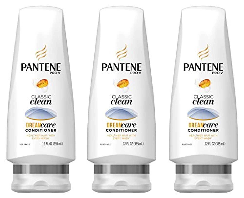 重量旅行無知Pantene プロVクラシッククリーンコンディショナー12液量オンス(商品サイズは変更になる場合があります)(3パック)