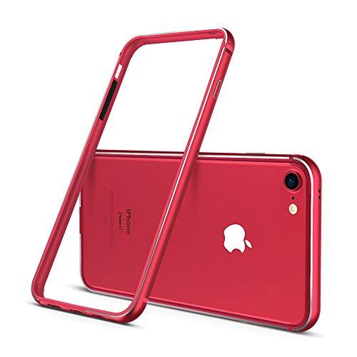 iPhoneケース アルミバンパー (iphone 7, レッド)