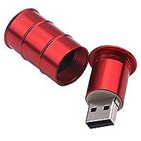 monkeyjackレッドペイントバケットスタイルUSBメタルフラッシュメモリスティックu-penドライブストレージ親指16GB