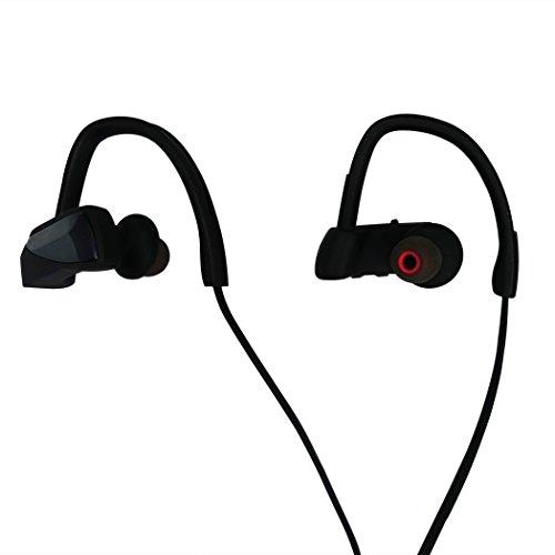 Bluetooth イヤホン スポーツイヤホン ワイヤレスイヤホン 防汗 防滴 HD高音質 耳かけ式ランニング中でも耳から外れにくい 無線 ハンズフリー 通話 CVC6.0 軽量 小型 マイク 内蔵 (ブラック)