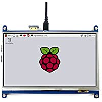 cocopar®Raspberry pi 3B/2B//B+/A+ /A/B/Zero用7インチ(1024x600)HDMI LCD GPIOタッチスクリーン モニター タッチパネル