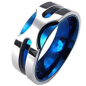 KONOV ジュエリー ファッション アクセサリー メンズ リング 指輪, クラシック, ステンレス, カラー青;\u2026