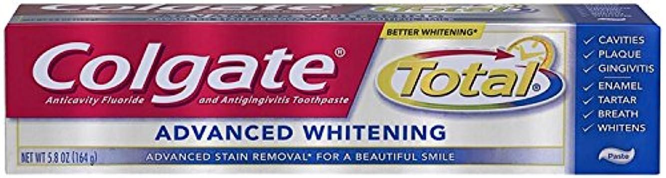 付与エコーフルーティーColgate 総歯磨きアドバンストホワイトニング5.80オズ 1パック
