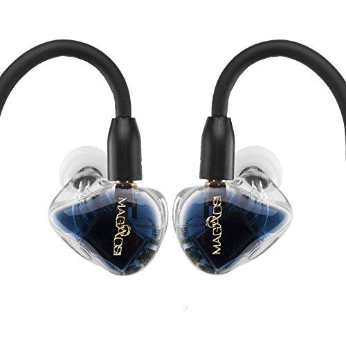 magaosi k5 イヤホン mmcxイヤホン+Bluetoothケーブル ハイレゾ型 イヤホン・ヘッドホン 高音質 mmcx リケーブル イヤホン Yinyoo (ブルー)