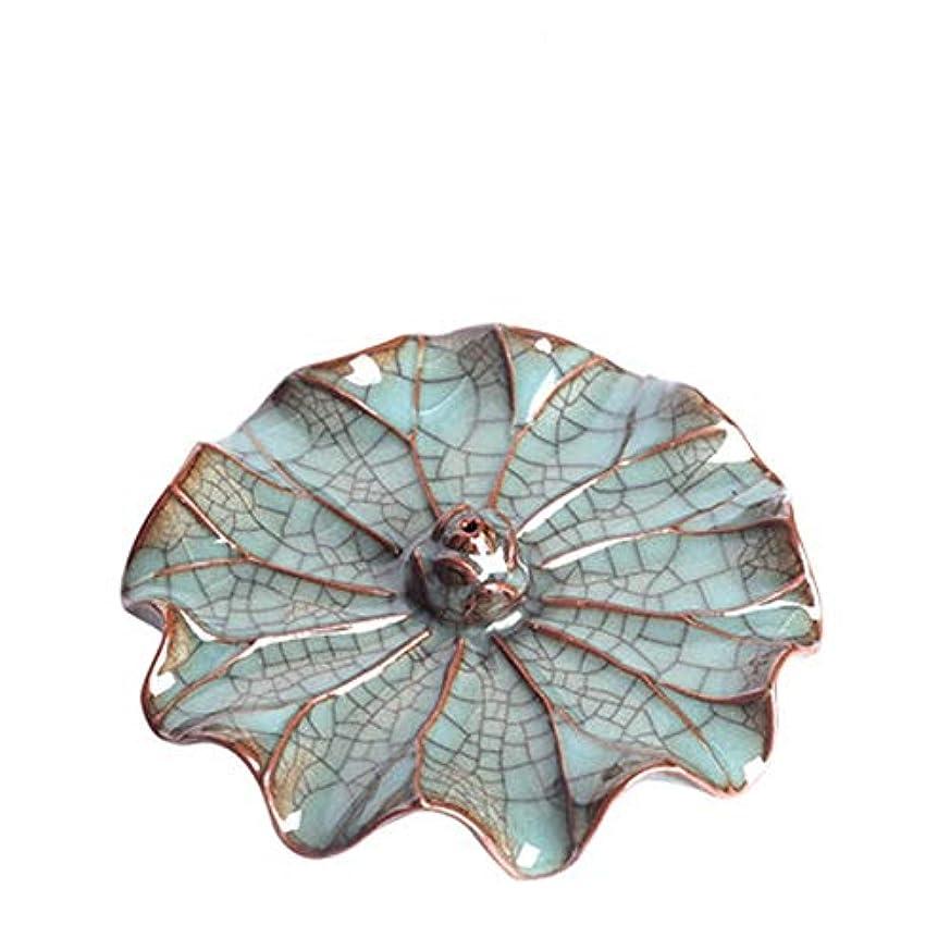 磁石ブレース認めるリフロー香炉クリエイティブロータスクラフトジュエリー煙滝手作りアート香炉香スティックホームデコレーション13 * 3.5センチ