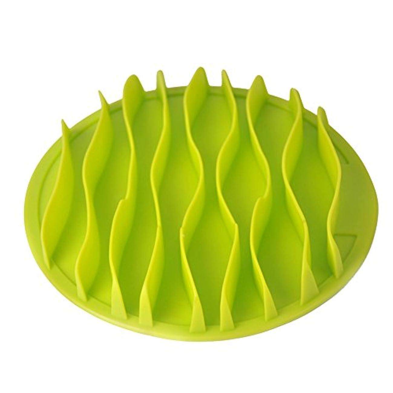 MyMei ペット食器 早食い防止 食べ過ぎ 犬猫用ボウル ペット食事用 給餌器 ペット皿 フードボウル 早食い防止食器 犬用スローフード ゆっくり食べる むせ防止 ペット用品 波 (S, グリーン)