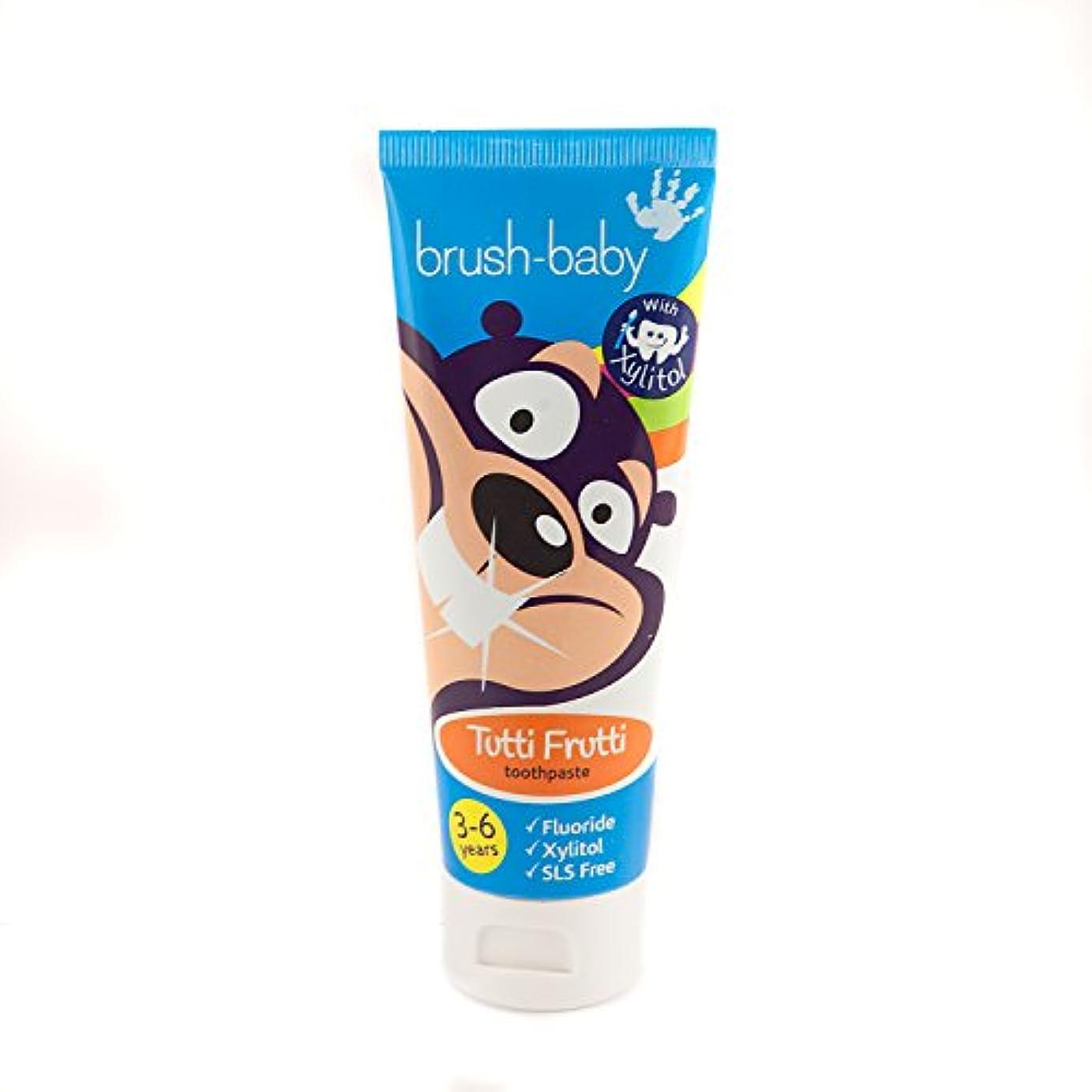 ウェイター伴うダイヤルBrush-Baby Children's Tutti Frutti Toothpaste 3-6 years (50ml) tube by Brush-Baby - ブラシ - ベビーチルドレンズフルーティの歯磨き粉3-6年(50ml)チューブbyブラシ - ベビー