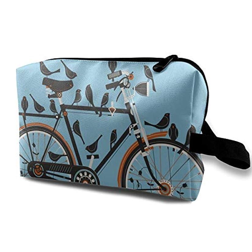 引き出す子供っぽいビットMethan Bike Art Royal Heather 収納ポーチ 化粧ポーチ 大容量 軽量 耐久性 ハンドル付持ち運び便利。入れ 自宅?出張?旅行?アウトドア撮影などに対応。メンズ レディース トラベルグッズ