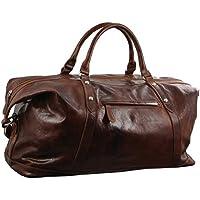 Pierre Cardin Leather Travel Business Trip Bag - Cognac