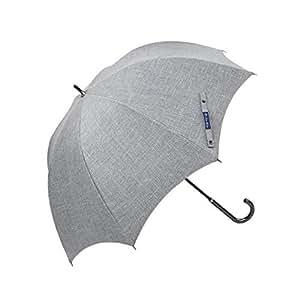 【Rose Blanc】100%完全遮光 日傘 プレーン ラージサイズ ダンガリー 60cm 15 (ダンガリーグレー) (ダンガリーグレー)
