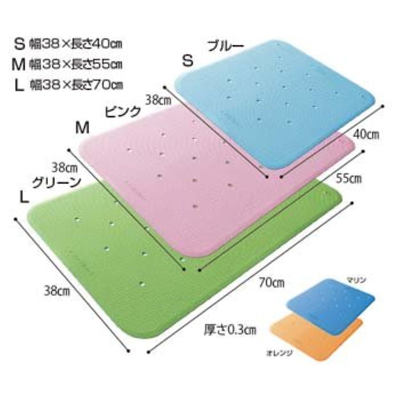 憎しみカール作動するウェルファン トライタッチ トライアングル形状のすべり止めマット(LL)ブルー
