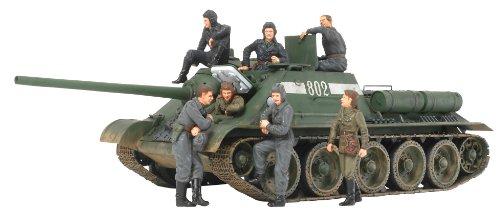 ソビエト 襲撃砲戦車 SU-85 (ウェザリングマスター・人形7体付き) (1/35 スケール限定シリーズ) 25110