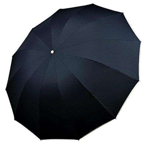 【On Dolce】 超強度重視 折りたたみ傘 12本骨 特大 130cm 【暴風雨に負けない!】【折りたたみなのに、特大サイズ!】 RW004 (ネイビー)