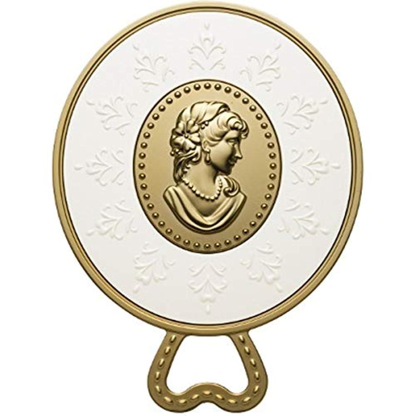 震える反毒カール(レ?メルヴェイユーズ ラデュレ) Les Merveilleuses LADUREE ラデュレ ハンドミラー 鏡 カメオ アンティーク調 ゴールド 金 ブランド