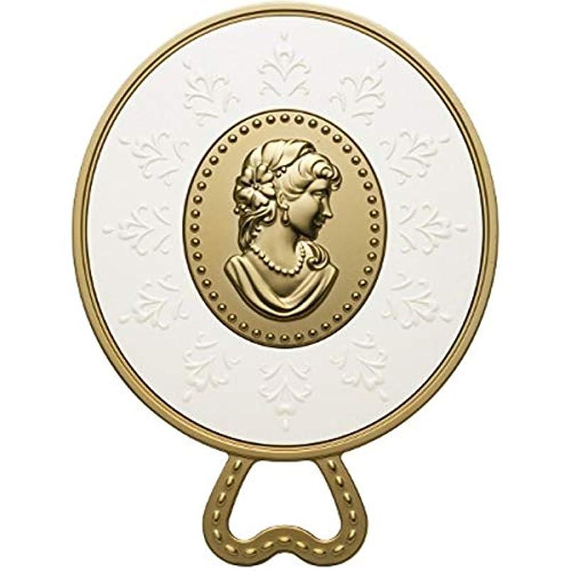 先行する電化するエクスタシー(レ・メルヴェイユーズ ラデュレ) Les Merveilleuses LADUREE ラデュレ ハンドミラー 鏡 カメオ アンティーク調 ゴールド 金 ブランド