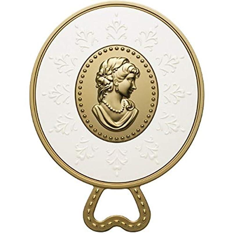 ハーフ考えスロープ(レ?メルヴェイユーズ ラデュレ) Les Merveilleuses LADUREE ラデュレ ハンドミラー 鏡 カメオ アンティーク調 ゴールド 金 ブランド