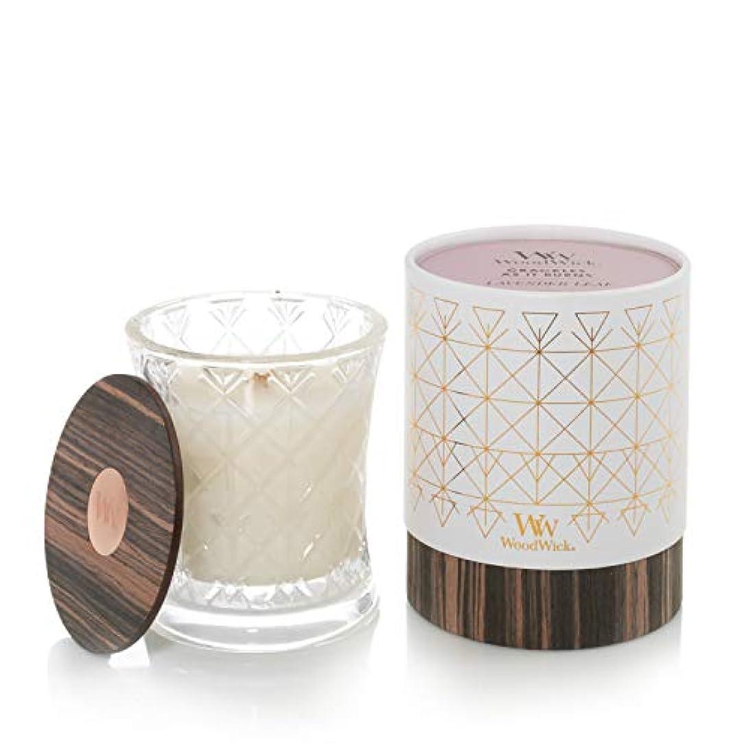 悪化させるすきずっとラベンダーリーフ – オーラコレクション砂時計WoodWick香りつきJar Candle