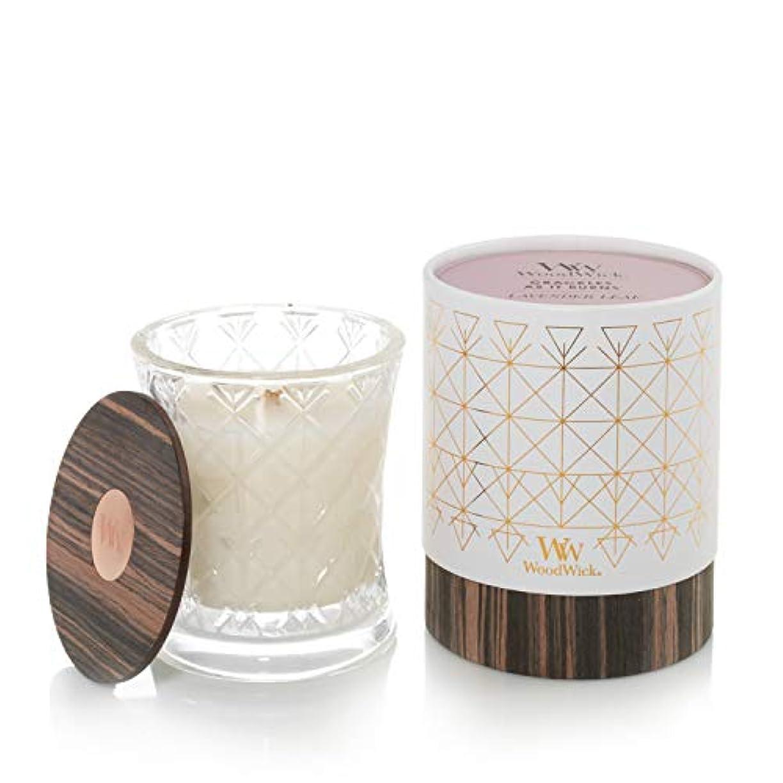 ソート信念十代ラベンダーリーフ – オーラコレクション砂時計WoodWick香りつきJar Candle