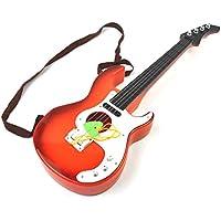 (Ree&Mee)おもちゃ ギター 楽器おもちゃ 子供用 キッズ ギター玩具 (オレンジ)