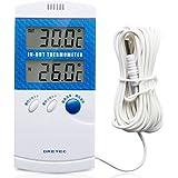 ドリテック 室内室外温度計 O-209BLブルー