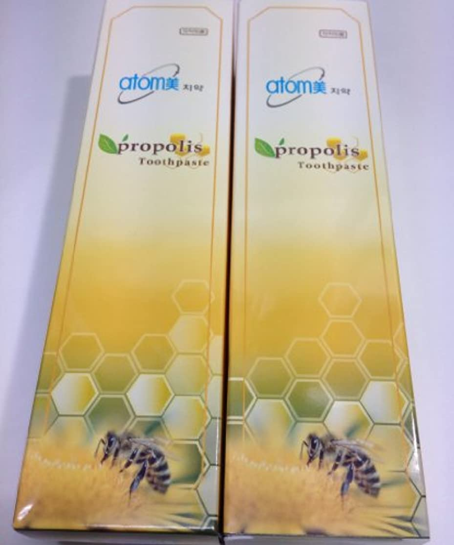 ミット曖昧なリブアトミ化粧品 アトミ 歯ミガキ (歯磨き粉) 200g 2本セット 並行輸入品