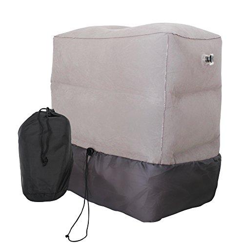 Binen フットレスト 足置き 足枕 足休め 携帯しやすい フラットクッション 車用 飛行機用 海外旅行 収納袋付き