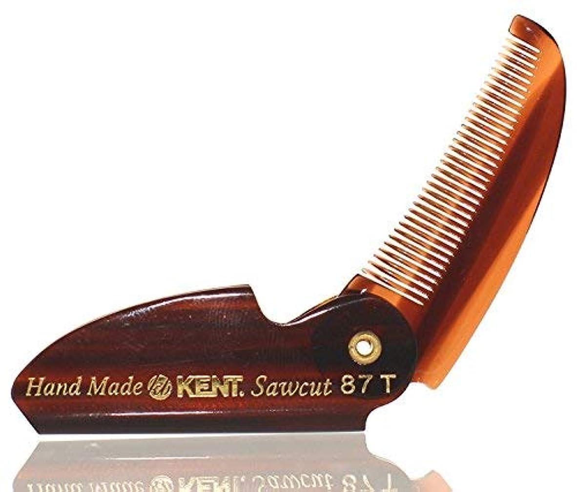 ミニ樫の木アラームBRAND NEW LIMITED EDITION KENT 87T FOLDING BEARD & MUSTACHE COMB by KENT COMBS (2 Pack) [並行輸入品]