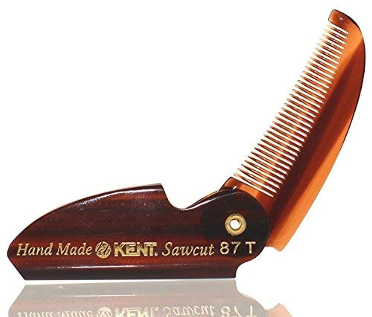 BRAND NEW LIMITED EDITION KENT 87T FOLDING BEARD & MUSTACHE COMB by KENT COMBS (2 Pack) [並行輸入品]