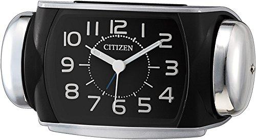 CITIZEN (シチズン) 大音量 目覚し 時計 バトルパワーR636 シルバーメタリック 8RA636-002